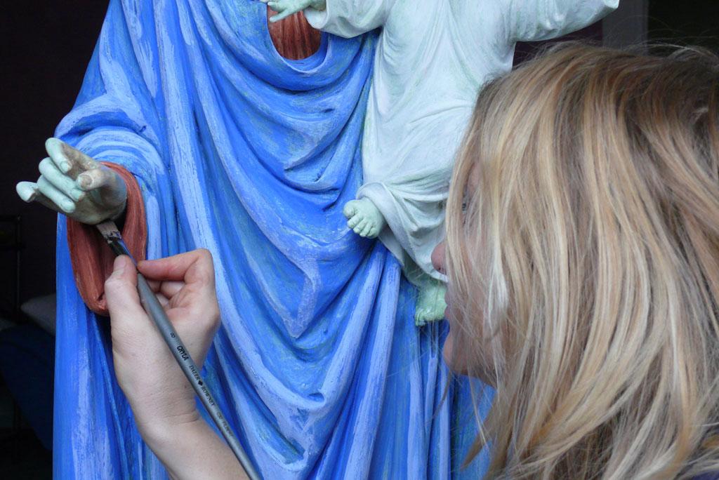 Malerei Restauration Petra Korherr Konstanz, Restauration Statue Maria